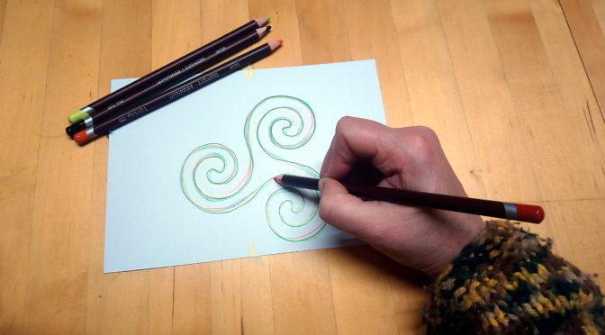 Schwungvoll  ENTSPANNEN  durch Endlosschleifen zeichnen